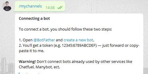 Api Telegram Controller Bot verbinden
