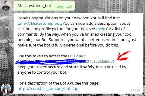 Telegram Bot Api verbinden