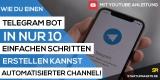 Telegram-Bot erstellen ▷ Der einfachste Weg zu deinem Autoresponder-Channel ✓